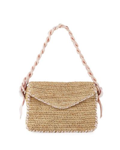 Pamela Munson Las Olas Raffia Shoulder Bag