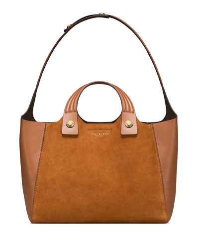 Rory Suede & Leather Tote Bag
