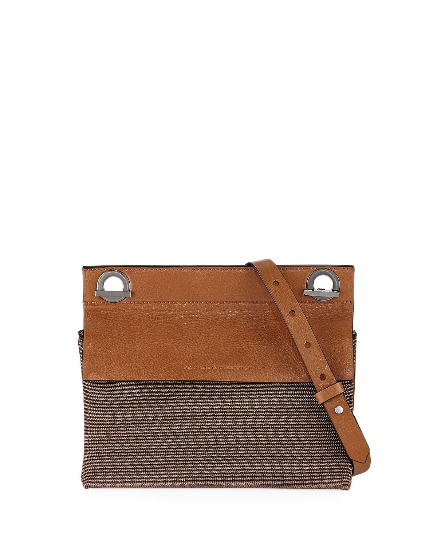 f52d8cc86483 Brunello Cucinelli Leather and Monili Shoulder Bag