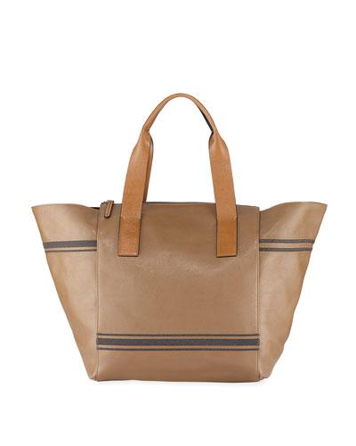 Linen and Monili Tote Bag