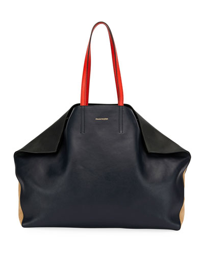 Alexander Mcqueen Large Erfly East West Tote Bag