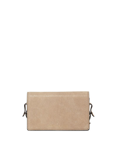 Small Leather Chain Clutch Bag