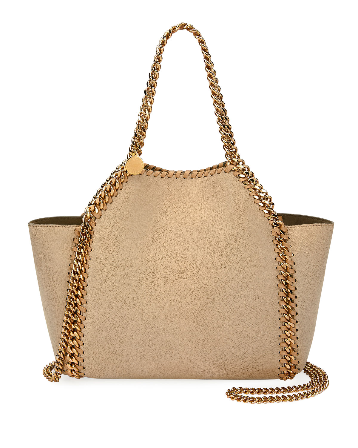 Stella McCartney Falabella Mini Reversible Shaggy Deer Tote Bag ... 8a40005dfce73