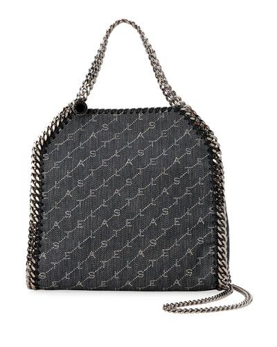 Falabella Mini Logo Canvas Chain Tote Bag