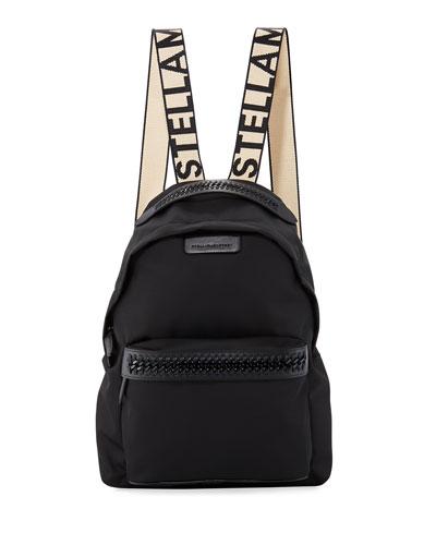 Logo-Web Nylon Backpack