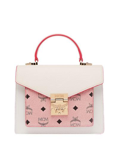 Patricia Visetos Leather Satchel Bag