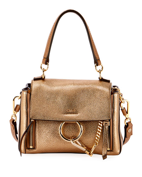 Faye Day Mini Metallic Satchel Bag