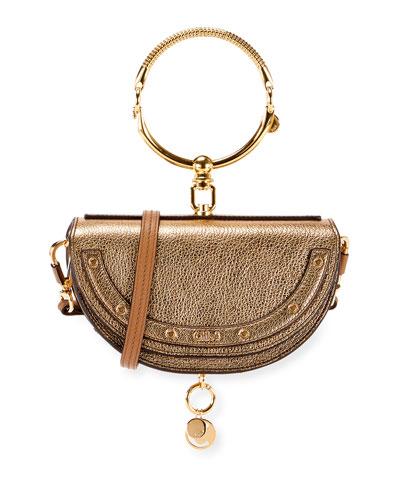 Nile Metallic Minaudiere Shoulder Bag