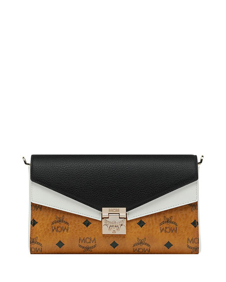 MCM Millie Visetos Colorblock Crossbody Bag