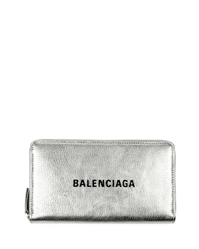 Everyday Metallic Leather Continental Wallet