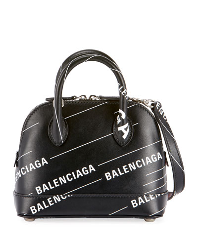 Balenciaga Ville S Logo Top Handle Bag