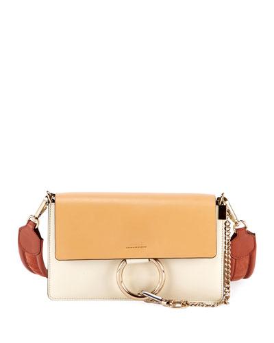 Faye Colorblock Leather Shoulder Bag