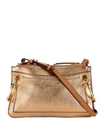 Roy Metallic Leather Crossbody Bag