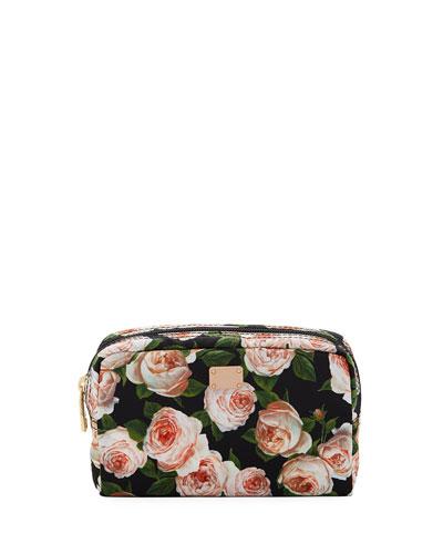 Roses Nylon Cosmetic Bag