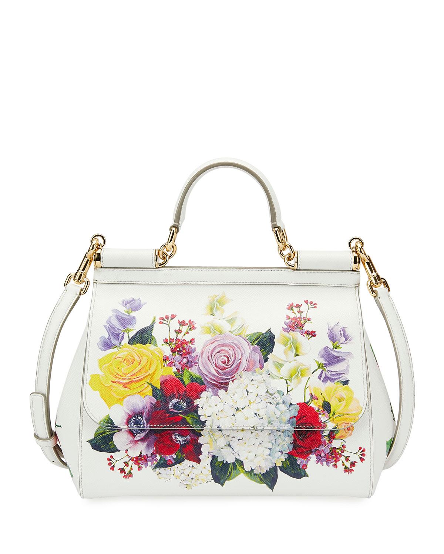 a14fda15f0 Dolce   Gabbana Sicily Medium St. Dauphine Flower Shoulder Bag ...