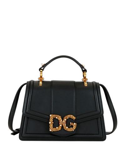 DG Leather Flap Shoulder Bag