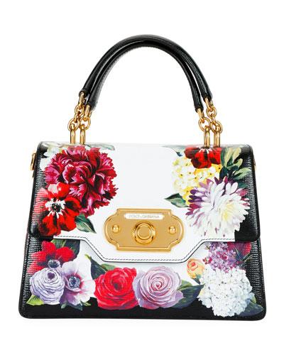 Welcome Flower Leather Shoulder Bag