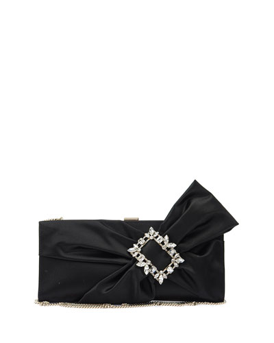 Trianon Buckle Drape Clutch Bag