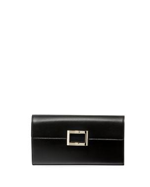 3e9781498886 Roger Vivier Viv Envelope Flap Clutch Bag