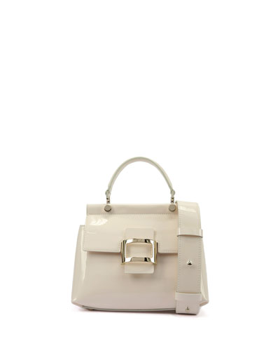 Viv Cabas Mini Patent Top-Handle Crossbody Bag