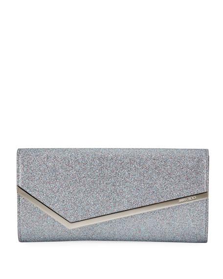 Jimmy Choo Erica Fine-Glittered Clutch Bag