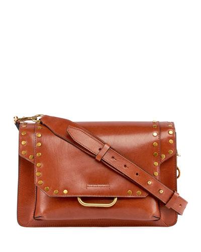 Maskhia Leather Crossbody Clutch Bag