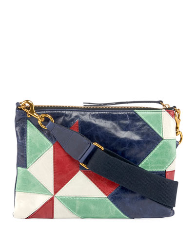 Nessah Bandoleer Colorblock Shoulder Bag