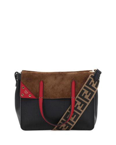 Calf Leather FF Fold-Over Tote Bag