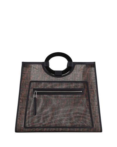Runaway Large FF Mesh Shopping Tote Bag