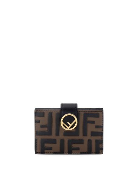 65b5af30d530 Fendi Ff-Embossed Liberty Wallet In Brown Black