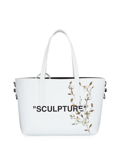 Cotton Flower Shopper Tote Bag