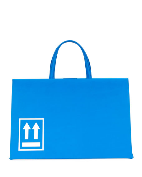 Off-White Medium Logo Leather Box Bag