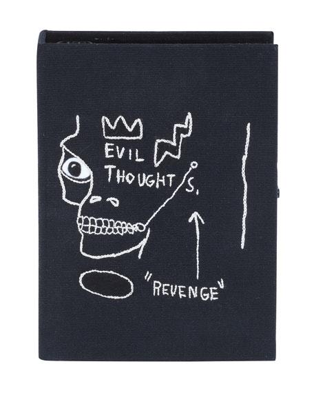Basquiat&Reg; Revenge Black Frame Edition Book Clutch Bag