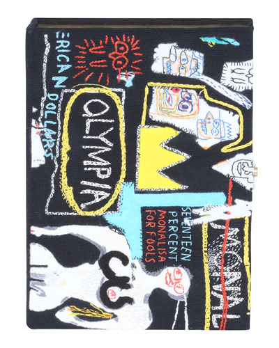 Basquiat Crown Hotel Artwork Book Clutch Bag