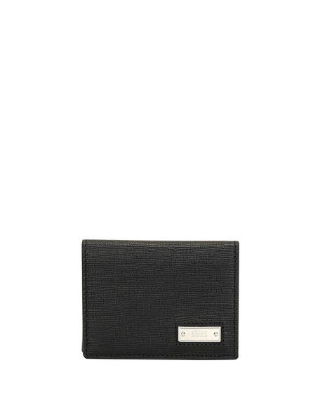 BALLY Men'S Balder Calf Leather Card Case in Black