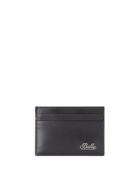 BALLY Men'S Bhar Leather Bifold Wallet in Black