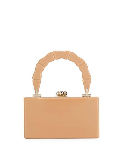 Jean Bamboo Top-Handle Clutch Bag