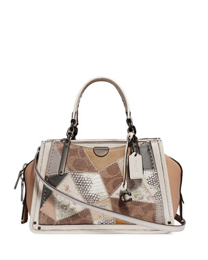 9a36e1fec1 Coach 1941 Dreamer 21 Patchwork Satchel Bag