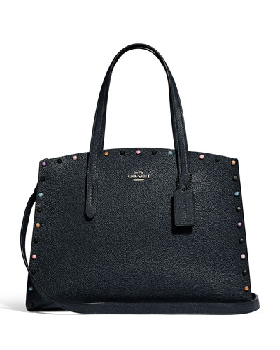 Charlie 40 Rivets Carryall Tote Bag