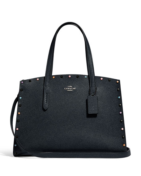 Coach 1941 Charlie 40 Rivets Carryall Tote Bag