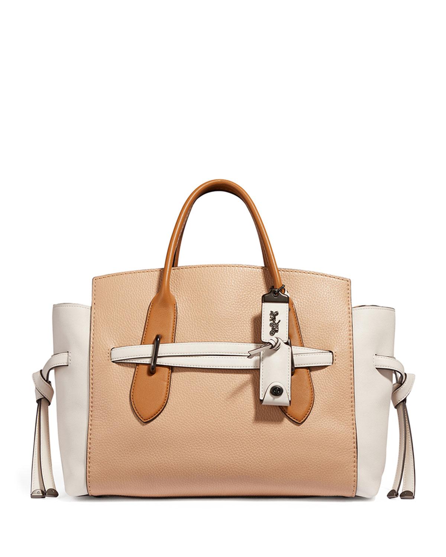5bccdf38852f Coach 1941 Shadow Colorblock Carryall Satchel Bag