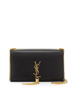 7dbbc28a694 Saint Laurent Monogram YSL Medium Chain-Strap Tassel Bag