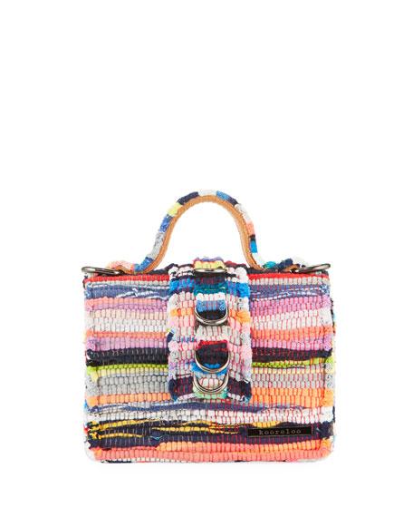 KOORELOO Petite Woven Flap-Top Top Handle Bag in Multi