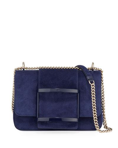 Belle de Jour Suede Shoulder Bag