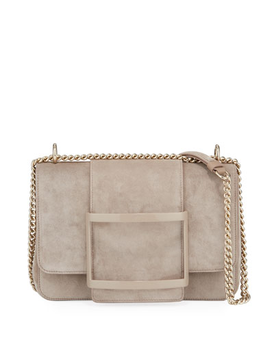 Belle de Jour Suede Shoulder Bag