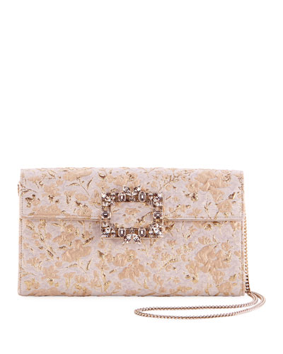 Trianon Buckle Envelope Clutch Bag