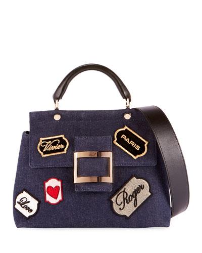 Viv Voyage Patch Cabas Satchel Bag