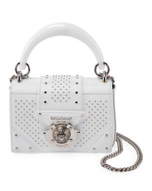 Balmain Ring Baby Box Calf Stud Shoulder Bag 1e467576a149e