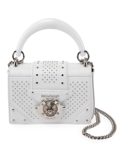Ring Baby Box Calf Stud Shoulder Bag