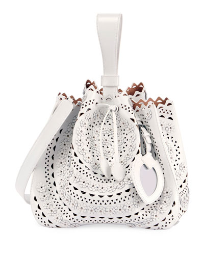 Rose Marie Small Cutout Bucket Bag with Strap